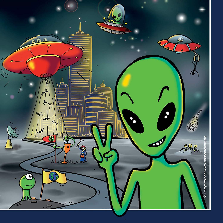20 Servietten Alien