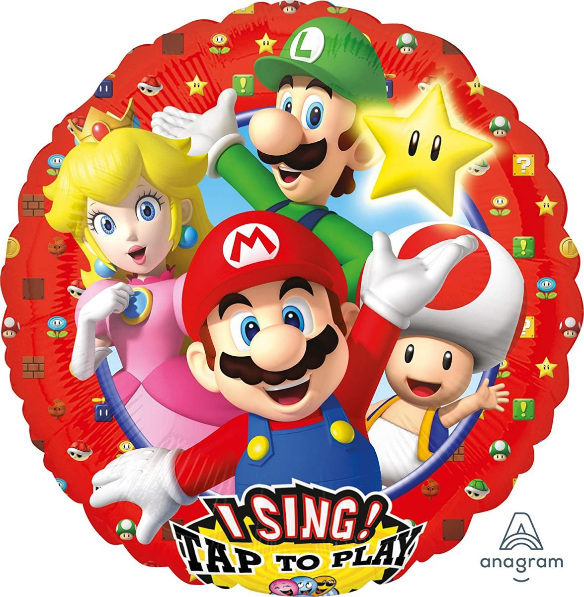 Singender Folienballon Super Mario