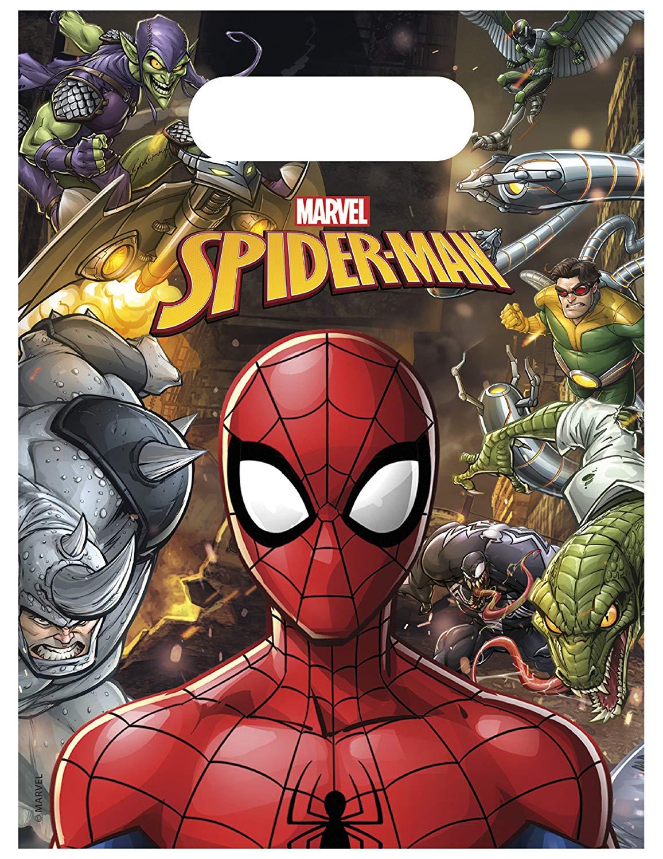 6 Partytüten Spiderman - Team Up!
