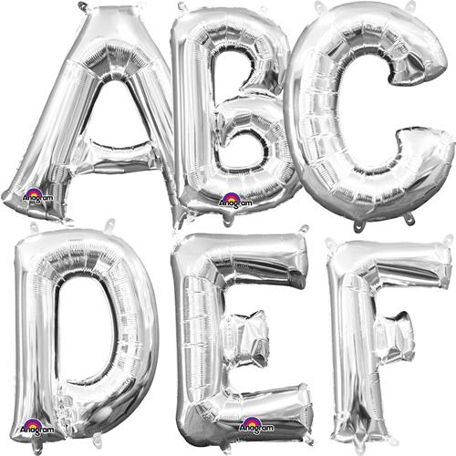 Buchstaben in Silber
