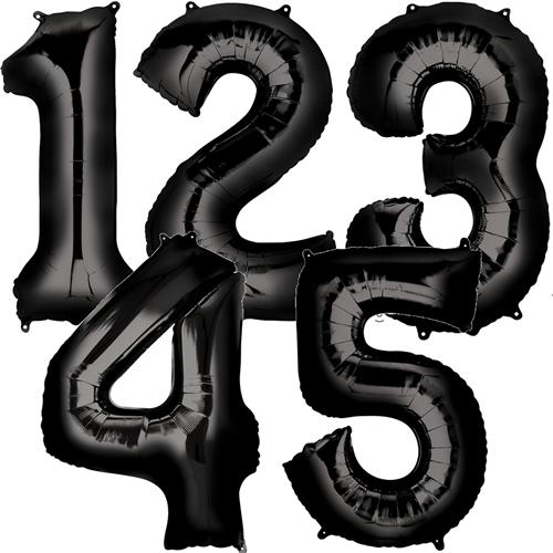 Zahlen in Schwarz