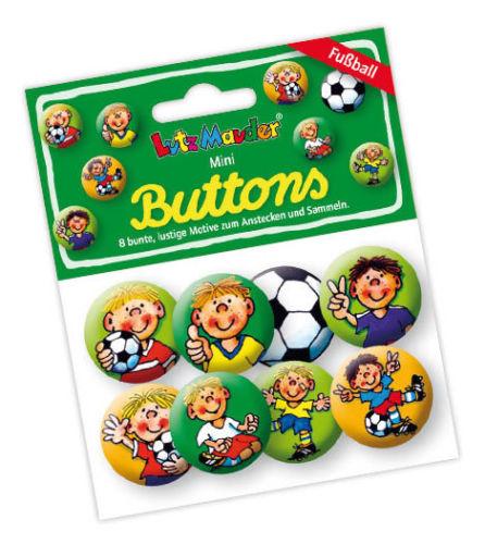 "8 Mini Buttons ""Fußball"""