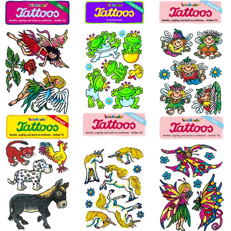 Einhörner und Märchen-Tattoos