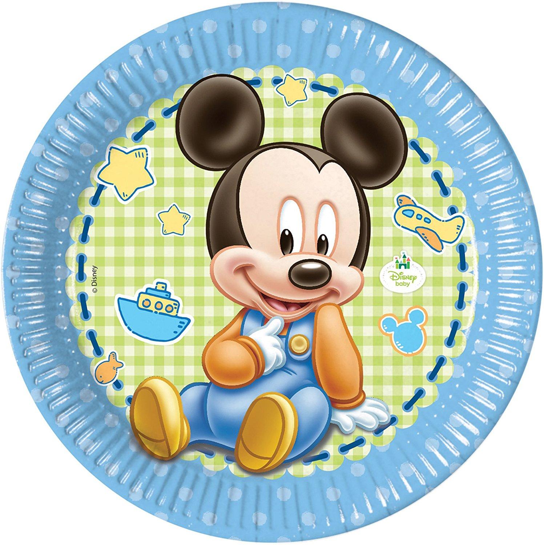 37teiliges partyset baby micky maus mit teller  becher
