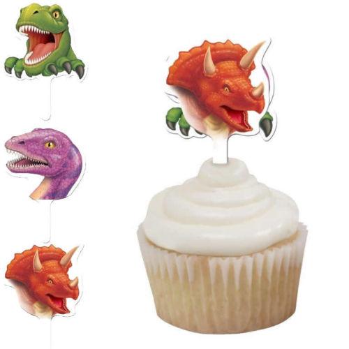 12 Muffin-Dekopiekser Dinos und T-Rex II