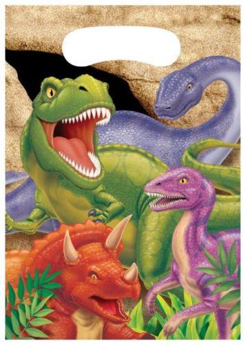 8 Partytüten Dinos und T-Rex II