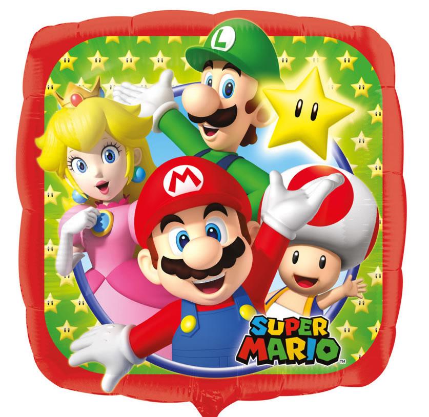 Folienballon - Super Mario (43cm)