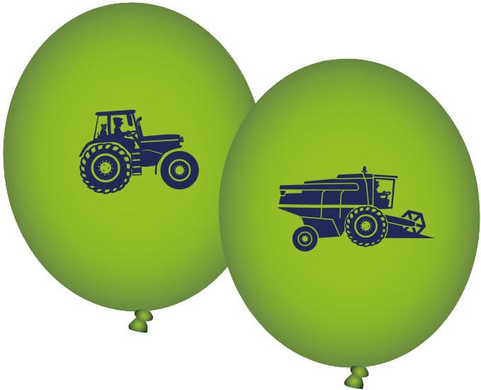 8 Luftballons Bauernhof