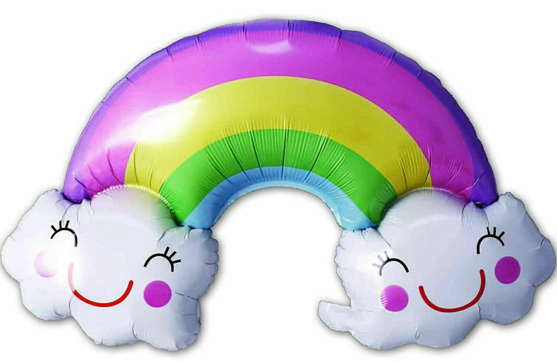 Air-Filled Folienballon Regenbogen (90x60cm)