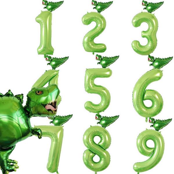 T-Rex Zahlenballons