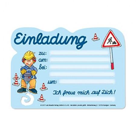 8 Einladungskarten Baustelle Von Lutz Mauder 8 Einladungskarten Baustelle  Von Lutz Mauder