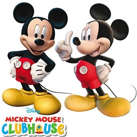 Deko-Figuren Mickey Mouse, 2 Stück, aus bedruckter Pappe, je 29cm ...