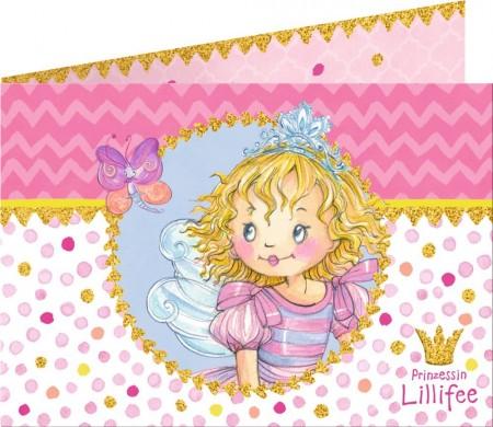 8 Einladungen + Umschläge Prinzessin Lillifee