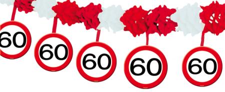 4m Girlande 60 Geburtstag