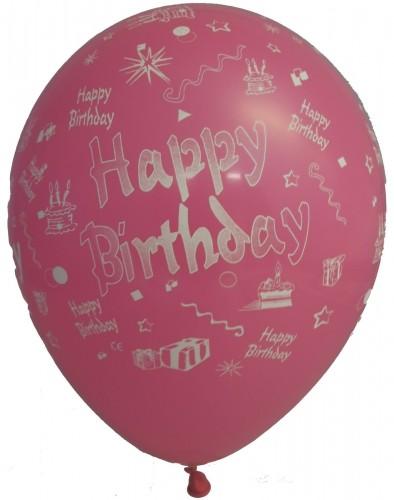 10 luftballons happy birthday. Black Bedroom Furniture Sets. Home Design Ideas
