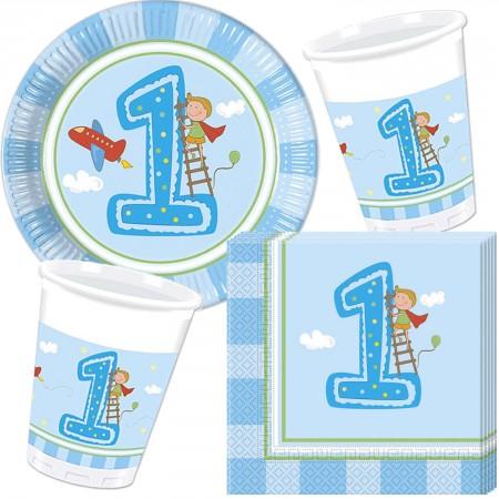 37 Teiliges Party Set 1 Geburtstag Junge Mit Teller Becher
