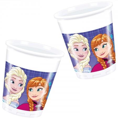 Die Eiskönigin Anna /& Elsa Snowflake Partyset 37 Teile für 8 Kinder