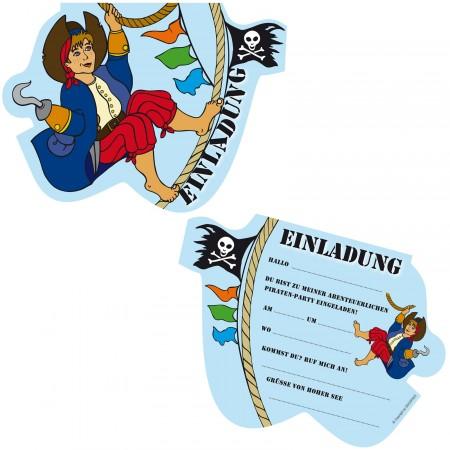 6 Einladungskarten Kinderpiraten / Piraten Für Kindergeburtstag