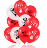 8 Luftballons Minnie Mouse Red