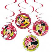 4x Hängedekoration Minnie Mouse Red
