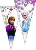 10 dreieckige Geschenktüten Die Eiskönigin / Frozen