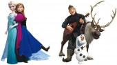 2 Pappfiguren Die Eiskönigin / Frozen