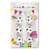 6 Mini-Figurenkerzen Fußball