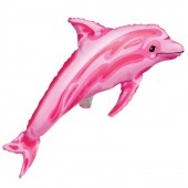 Folienballon Delfin in rosa