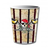 8 Becher Piraten - Red Pirate