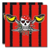 20 Servietten Piraten - Red Pirate