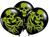 8 Luftballons Spooky Scary Skeletons