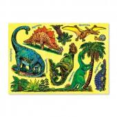 Fensterbild DIN A4 Dinosaurier
