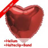 Folienballon Rotes Herz - Mit Helium