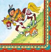 20 Servietten Indianer Yanuk