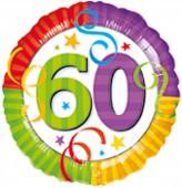 Folienballon 60. Geburtstag - Helium geeignet