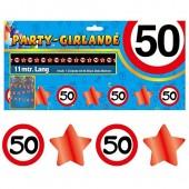 Girlande 50. Geburtstag