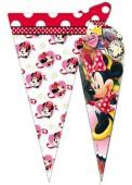 10 dreieckige Geschenktüten Minnie Mouse Red