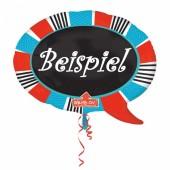 Folienballon in Sprechblase-Form (beschreibbar)