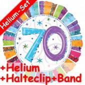 Folienballon Happy Birthday - 70. Geburtstag - Mit Helium