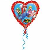 Folienballon Super Mario (Herzform)
