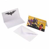 8 Einladungskarten Lego Batman