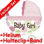 Folienballon Baby Girl - Mit Helium