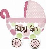 Folienballon Baby Girl - Ohne Helium