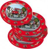 8 Teller Feuerwehr