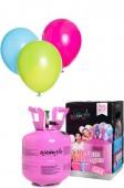 Ballongas-Flasche mit Helium für 20 Ballons + 25 Luftballons