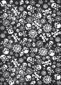 Tischdecke Totenköpfe