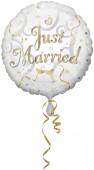 Folienballon Just Married - Helium geeignet
