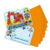 8 Einladungskarten Baustelle von Lutz Mauder