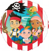 Folienballon Jake und die Nimmerland Piraten