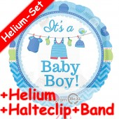 Folienballon It's a Baby Boy - Mit Helium